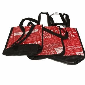 Lululemon lot of 3 Reusable Small Tote Bags